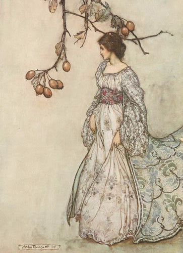 Art Print:  Arthur Rackham, Illustration from 'Peter Pan in Kensington Gardens', 1908