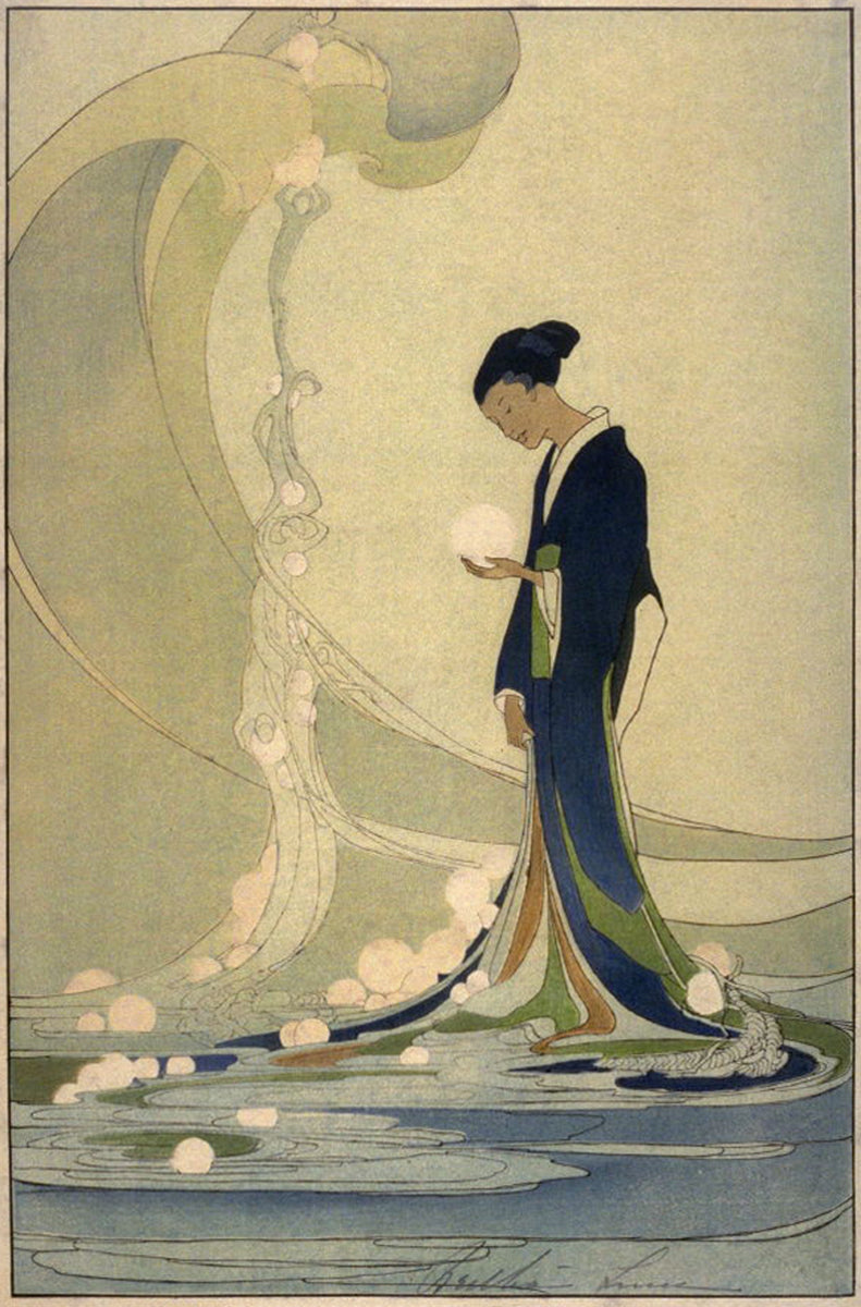 Art Print:  Bertha Lum, 'Spirit of the Sea', 1918