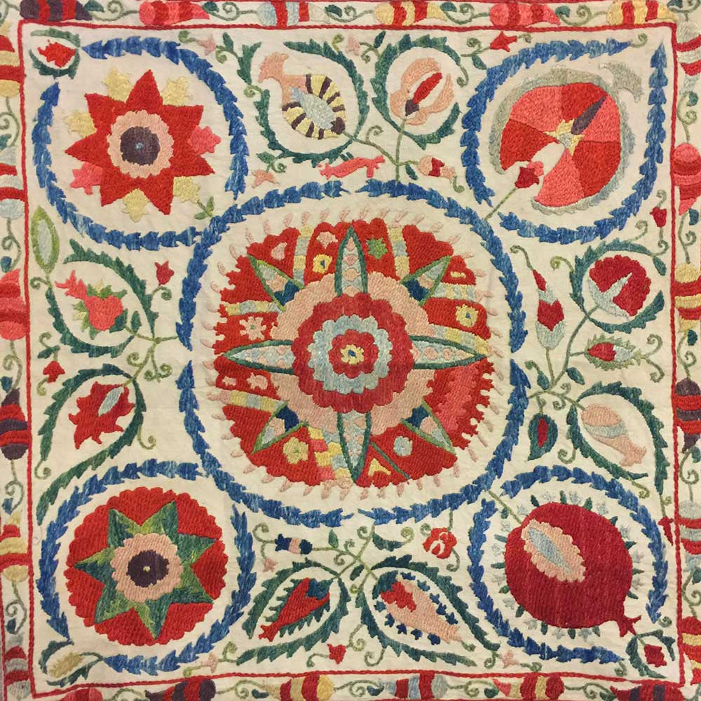 SOLD Embroidered Suzani Cushion Cover 'Bukhara'
