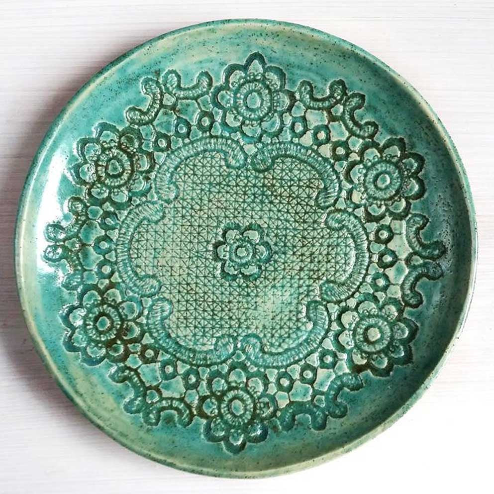 Pottery Plates, Set of 2, Handmade by Tanja Shpal