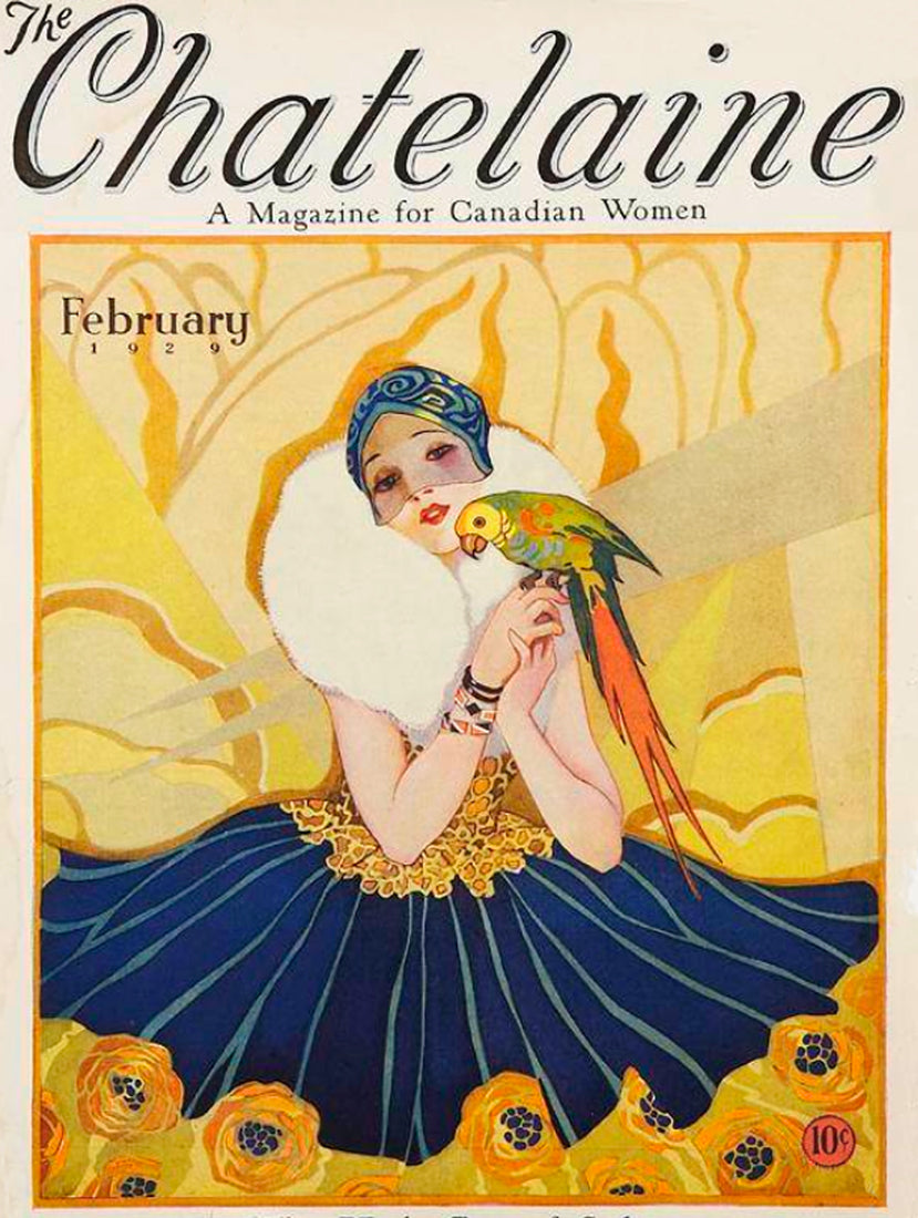 Art Print:  Cover of Chatelaine Magazine, February 1929