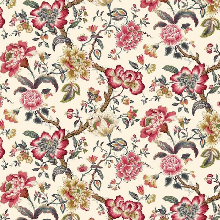 18th century design chintz fabric 2 metres lizzie for Chintz fabric