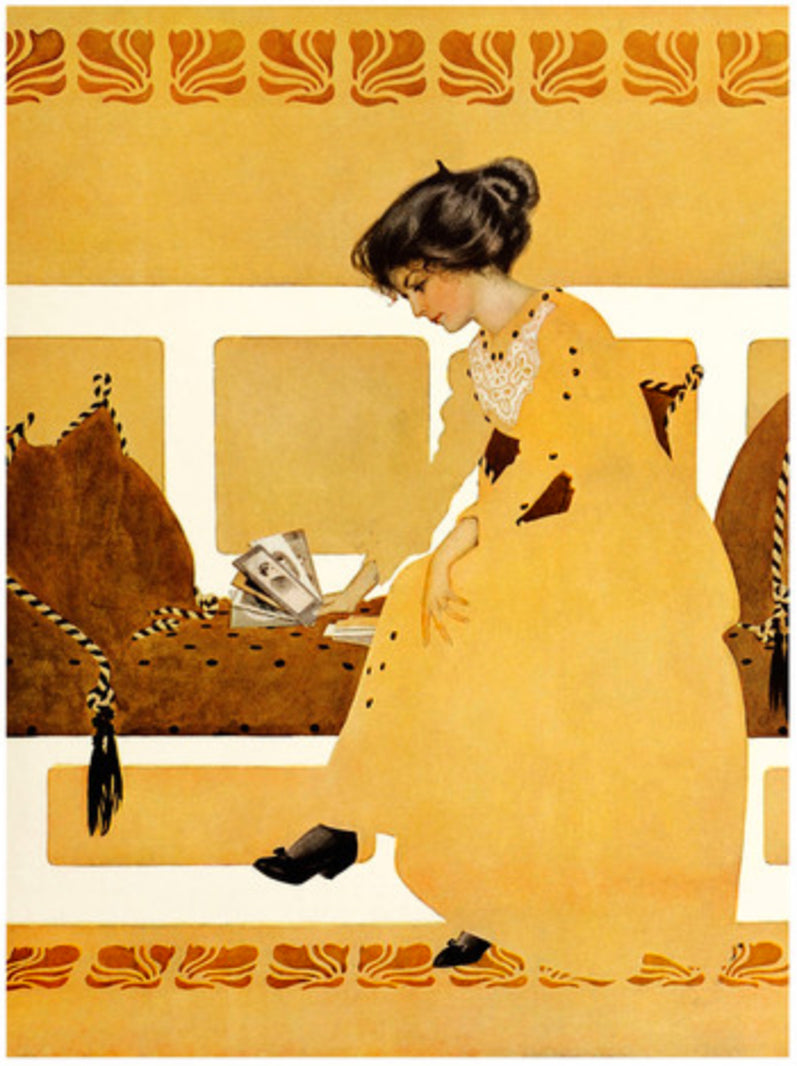 Art Print:  Clarence Coles Phillips, 'Dis-Carding From Strength', 1911