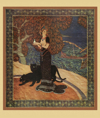 Art Print:  Edmund Dulac, 'Circe, the Enchantress', 1915