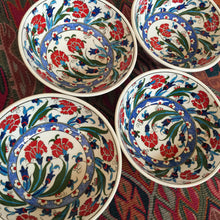 Hand Painted Iznik Flower Bowls, Set of 2, SOLD OUT