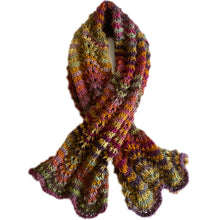 Lizzie Montgomery Hand Knitted Mohair/Wool Scarf