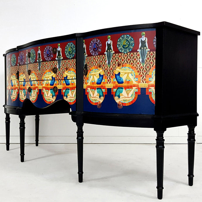 Art Deco 'Bathers' Sideboard by Boogaloo Boutique