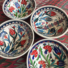 Hand Painted Iznik Flower Bowls, Set of 4