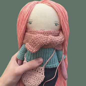 Anna Peach Doll, Handmade by Otto & Anna