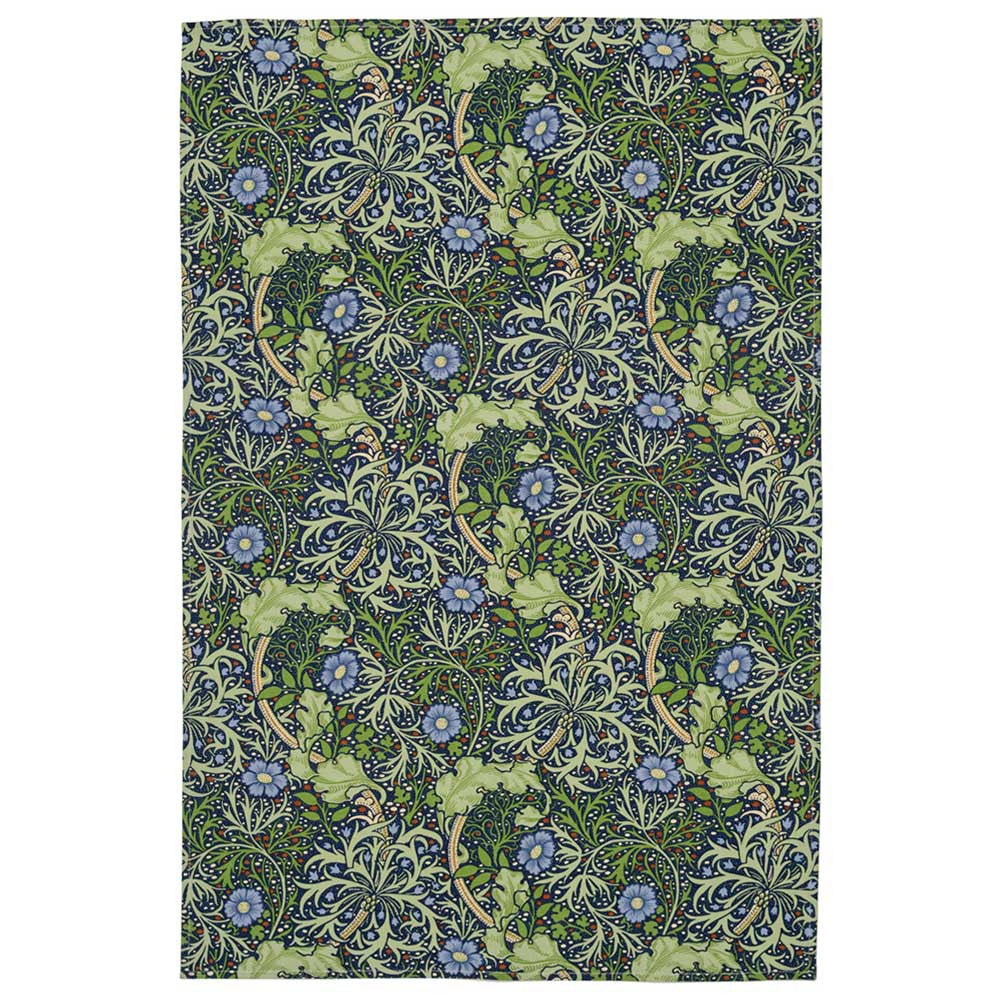 William Morris V&A 'Seaweed' Tea Towel