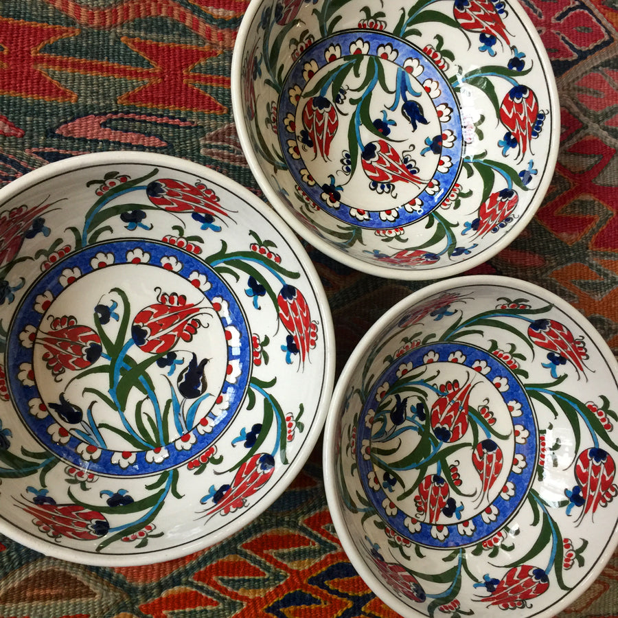 Hand Painted Iznik Tulip Bowl SOLD OUT