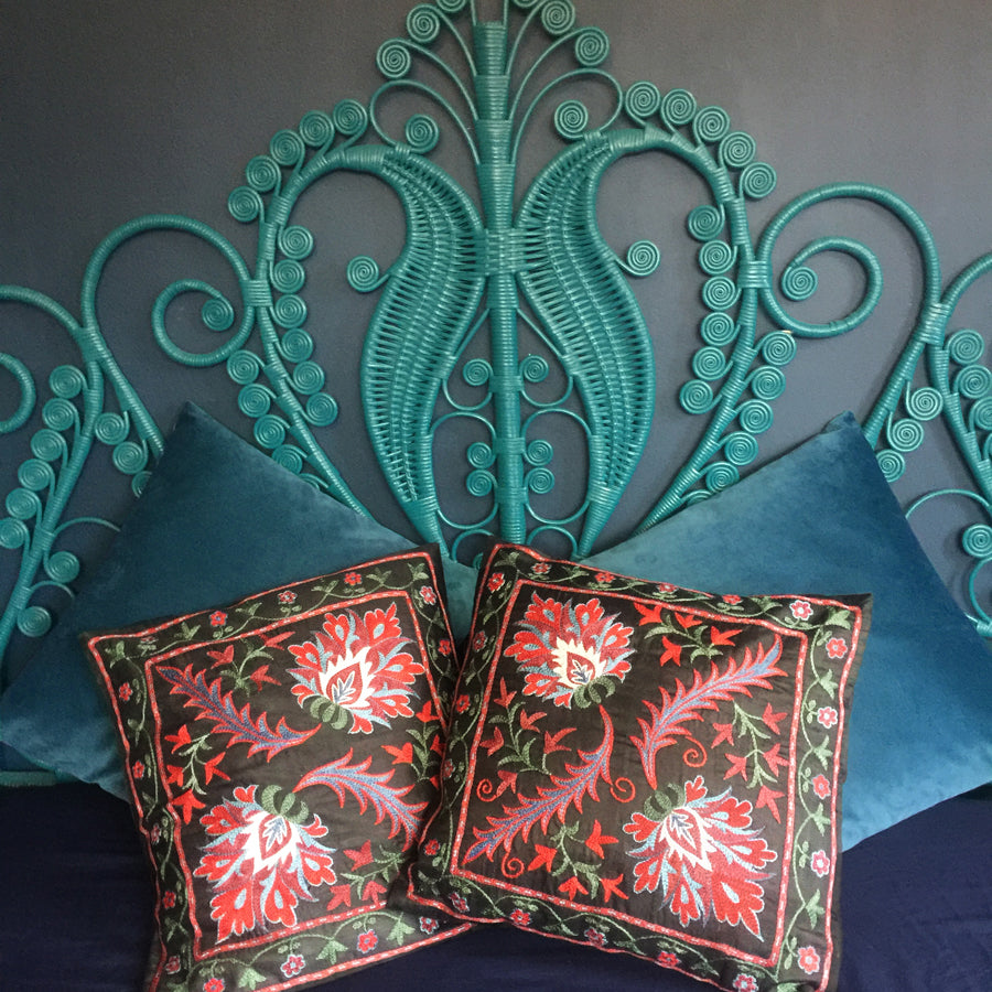 2 x Embroidered 'Florentine' Pillow Covers