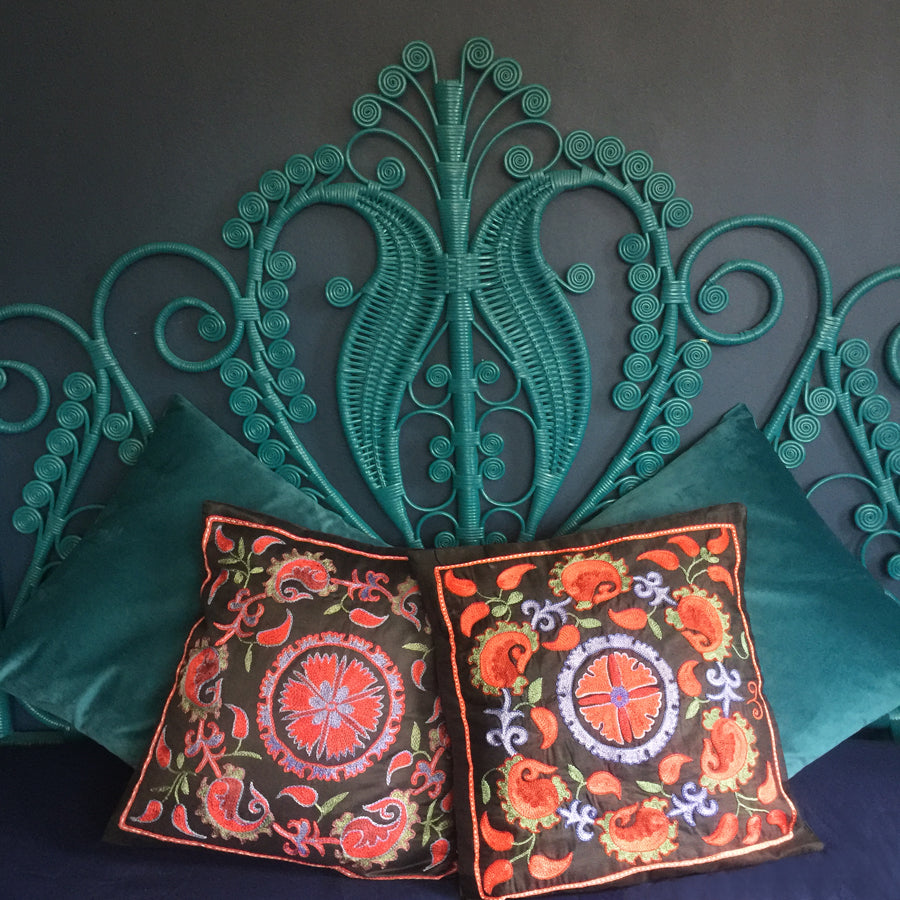2 x Embroidered 'Venezia' Pillow Covers