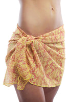 Yellow Snake Chic short swimsuit wrap from Lifestyles Direct Tan Through Swimwear.