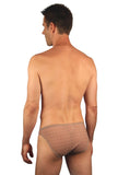Back of mens racer -- 1 in -- in Mesh print.