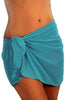 Tan Through Aqua Sarong BW0403
