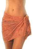 Orange Floral Wave short swimsuit coverups from Lifestyles Direct Tan Through Swimwear.