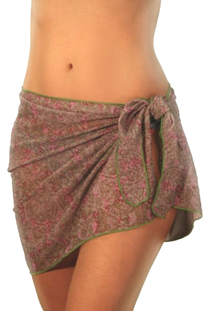 Pink Ethno tan through sarong from Lifestyles Direct.