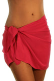 Solid Fuschia tan through sarong.