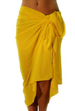 Solid yellow pareo swimsuit coverups from Lifestyles Direct Tan Through Swimwear.