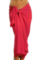 Tan through swimsuit coverups in solid fuchsia from Lifestyles Direct.