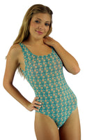 Tan through traditional tank swimsuit from Lifestyles Direct.