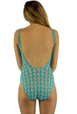 Back view of traditional tank bathing suit from Lifestyles Direct Tan Through Swimwear