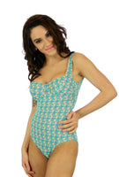 C-D underwire tank in Conch print from Lifestyles Direct Tan Through Swimwear.