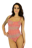 Pink Forever tan through swimsuit with underwire support and adjustable straps.
