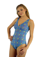 Blue Bubbles structured cup swimsuit from Lifestyles Direct Tan Through Swimwear.