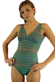 Tan through green Forever structured top swimwear from Lifestyles Direct.