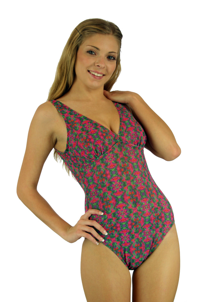 Structured Cup Tan Through Swimsuit for Women CB8623