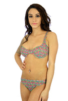 Pink Toucan tan through bikini top with C-D range underwire cups.
