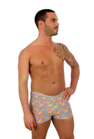 CE5412 orange Bubbles tan through mens swimwear bike shorts from Lifestyles Direct.