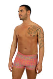 Pink Forever tan through bike shorts for men -- 9 inch sides.