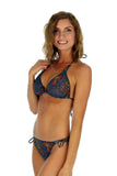 String Bikini Tan Through Swimsuit Top DT7190