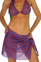 Blue Hibiscus tan through sarong from Lifestyles Direct.