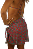 Green Hibiscus sarong -- tan through.