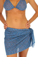 Blue Caged tan through sarong from Lifestyles Direct.