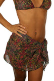 Lifestyles Direct Tan Through Swimwear sarong swimwear coverup in pink Safari print.