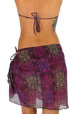 Back of purple Safari tan through sarong.