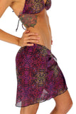 Safari print in purple option on tan through swimsuit coverups.