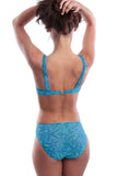 Cameo showing back view of tan through C-D underwire bikini set.