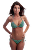 Green Animal string bikini set from Lifestyles Direct Tan Through Swimwear.
