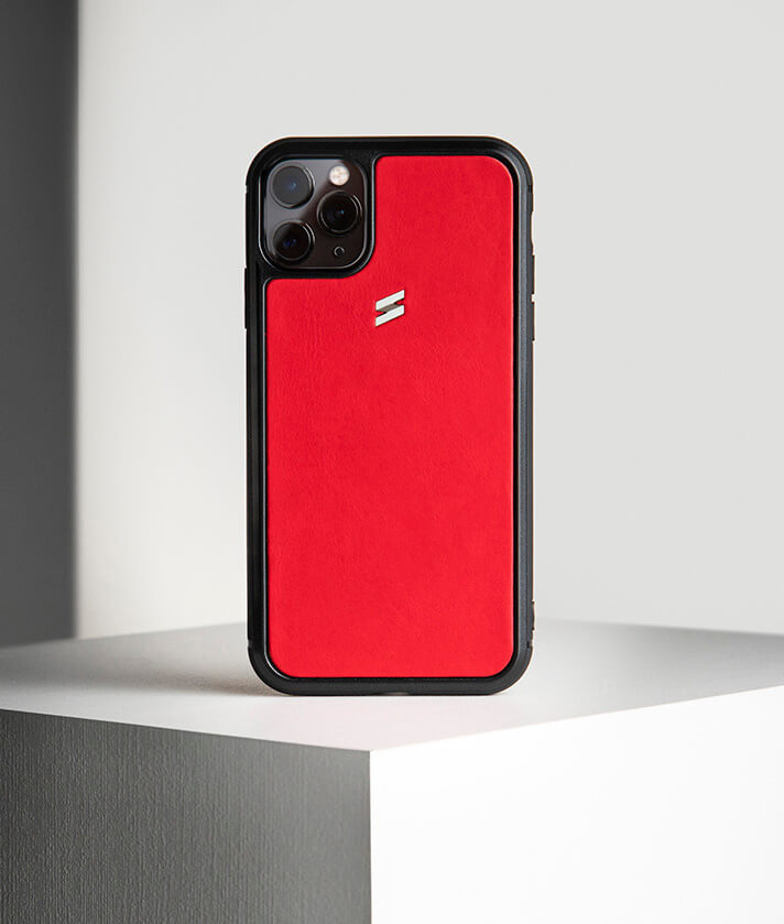 Red leather case for iphone 11 pro - Rio Model