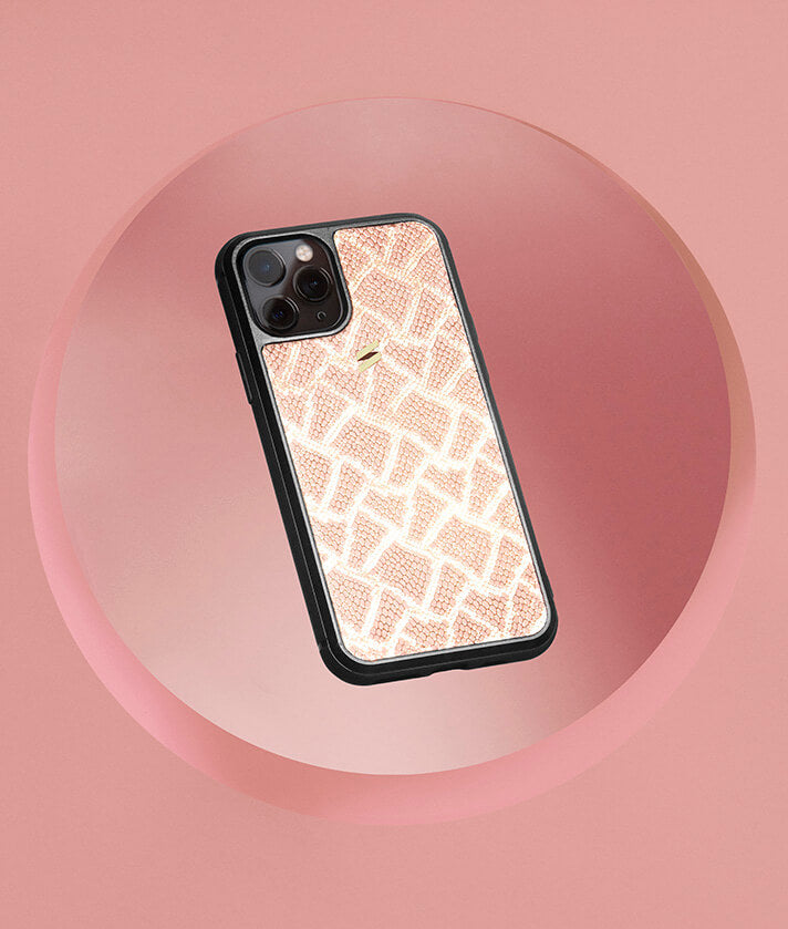Paris Pink leather case for Iphone 11 pro