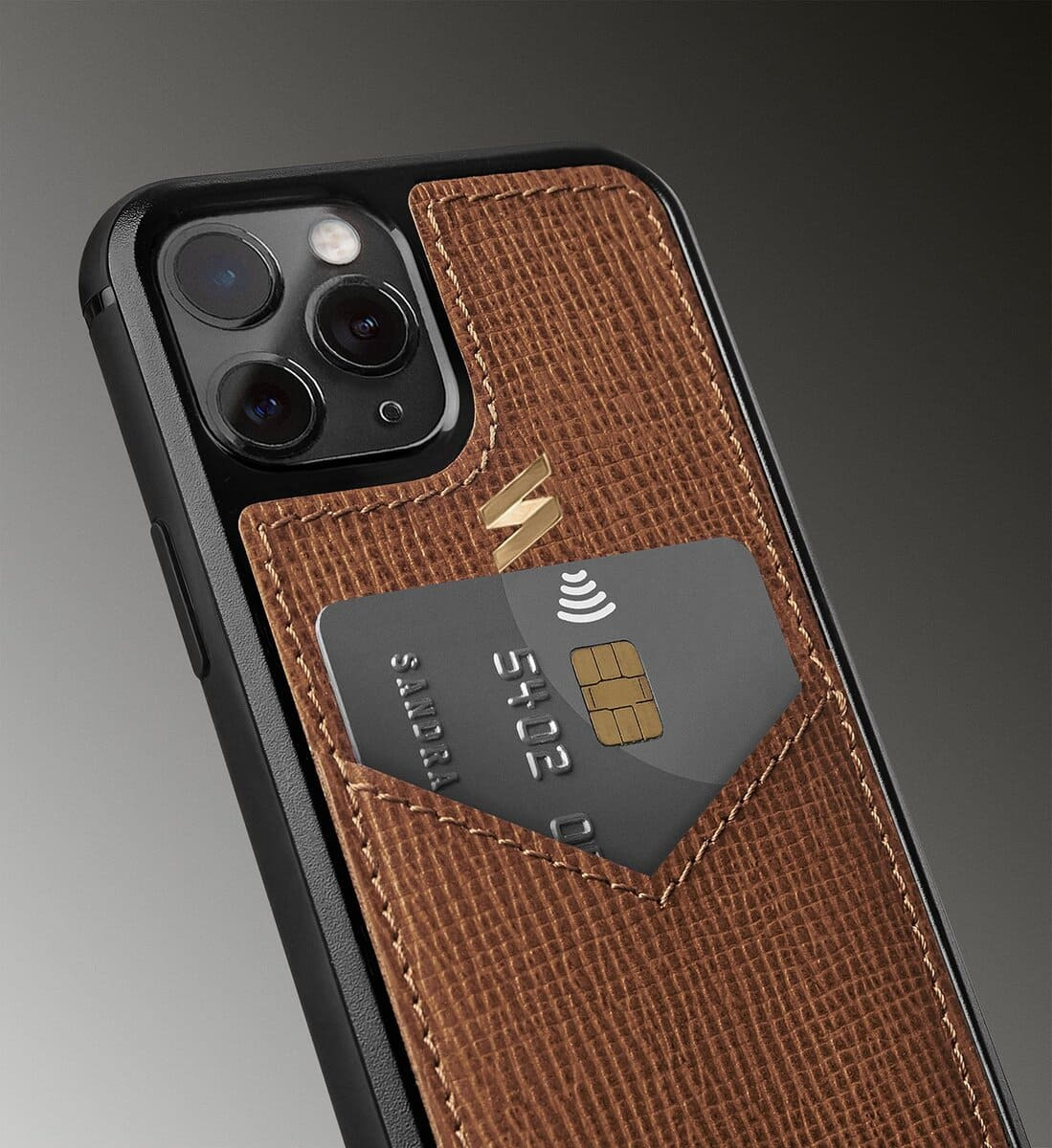 Corteccia leather case for iphone 11 pro with a space to store cards