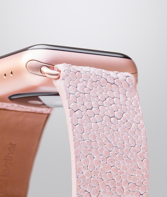 Pink band for iwatch with a subtle touch of glitter