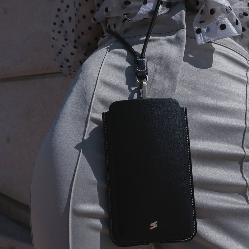 iPhone case with strap Bali Black