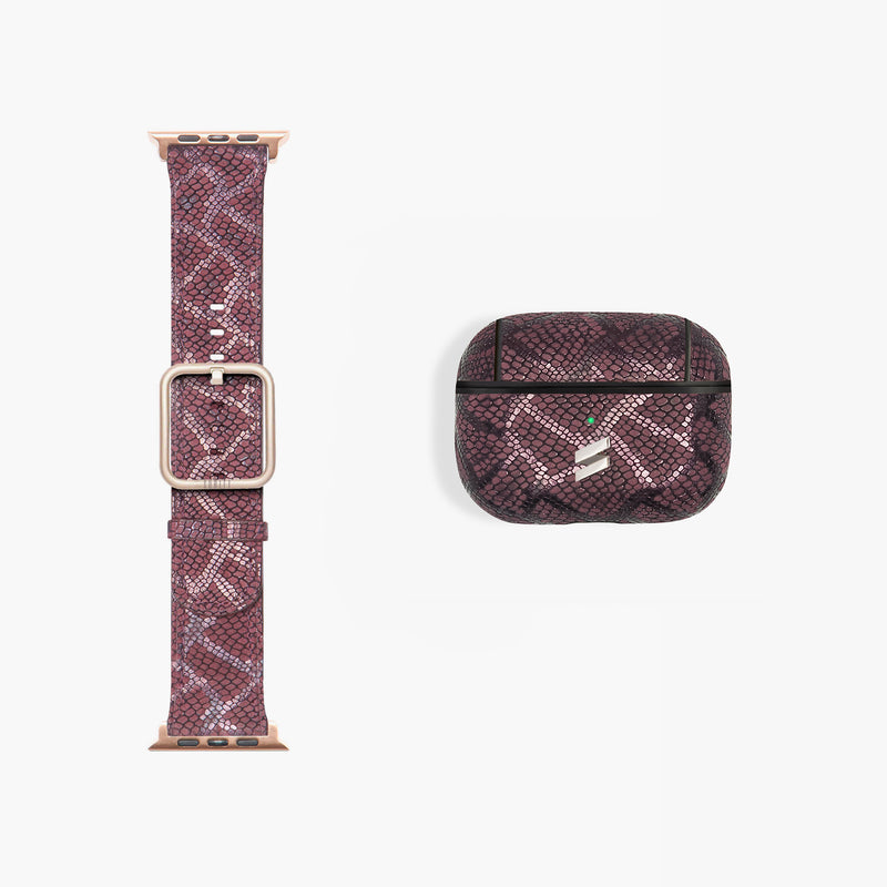 GIFT PACK BAND + AIRPODS CASE PARIS BURGUNDY